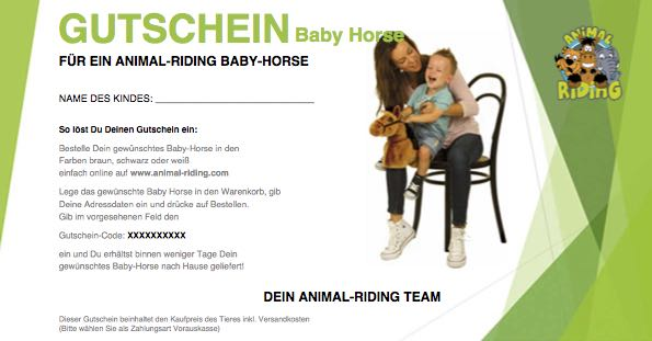 Animal-Riding Gutschein Baby-Horse